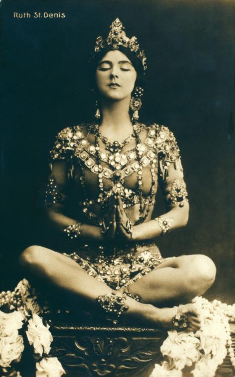 Ruth St. Denis vestida como Radha